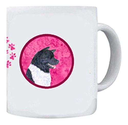 Caroline's Treasures SS4797-PK-CM15 Akita Dishwasher Safe Microwavable Ceramic Coffee Mug, 15 oz, Multicolor (Akita Coffee Mug)