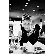Buyartforless Audrey Hepburn Breakfast at Tiffanys Romantic Comedy Movie Film Holly Golightly Poster 24x36