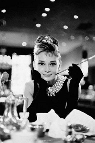 Buyartforless Audrey Hepburn Breakfast at Tiffanys Romantic Comedy Movie Film Holly Golightly Poster 24x36 ()