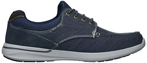 Skechers Men's Relaxed Fit-Elent-Mosen Boat Shoe,navy,9.5 M US