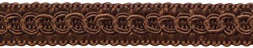 Style# 0050SG Color: Mocha D2 D/ÉCOPRO 1//2 inch Basic Trim Decorative Gimp Braid Sold by The Yard