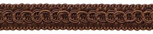 DÉCOPRO 54 Yard Package of 1/2'' Basic Trim Decorative Gimp Braid, Style# 0050SG Color: Mocha - D2 (164 Ft / 50 Meters) by DÉCOPRO