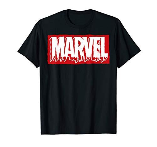 Marvel Paint Drip Red Brick Logo T-Shirt ()