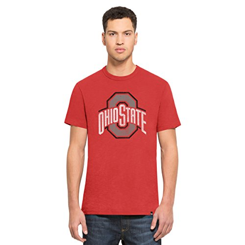 Scrum Basic Tee - '47 NCAA Ohio State Buckeyes Men's Scrum Basic Tee, X-Large, Rescue Red