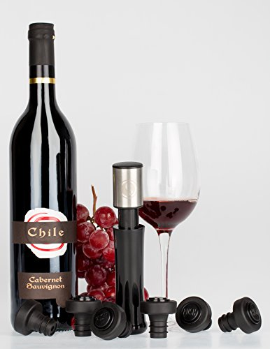Wine Preserver Vacuum Pump - Wine Sealer - Air Remover - Wine Saver With 6 Stoppers and 2 Disc Wine Pourers by Fast O Vacuum (Image #6)