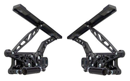 Ringbrothers 20679-1032BS Chevrolet Camaro Black Anodized Billet Aluminum Solid Arm Hood Hinge – Pair