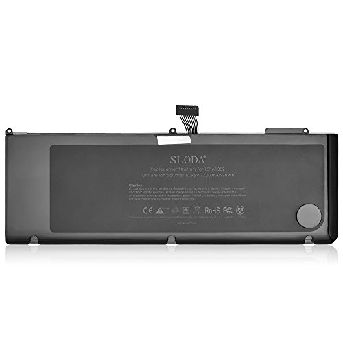 SLODA Laptop Replacement Battery for Apple Macbook Pro 15...