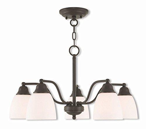 Livex Lighting 53855-07 Somerville 5 Light BZ Dinette Chandelier/Semi Flush, Bronze - Transitional Semi Flush Lighting