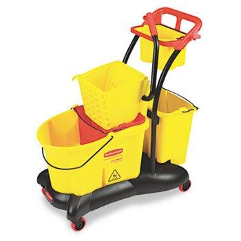 RUBBERMAID WaveBrake 35-Quart Mopping Trolley Side Press, Yellow (Case of (Rubbermaid Wavebrake Mopping Trolley)