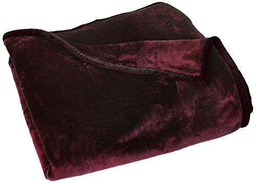(Chezmoi Collection Heavy Thick One Ply Korean Style Faux Mink Blanket 9-Pound Oversized King 105x92 (King,)