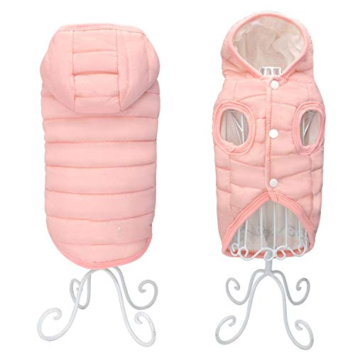 Fanatical-Night Dog Clothes for French Bulldog Pug Pet Clothes Clothing for Small Dogs Waterproof Jacket Coat Costume,Pink,M ()