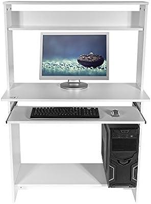 Mari Home - Bewicke Blanco escritorio de la computadora Mesa de ...