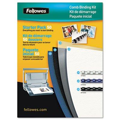 Fellowes Comb Binding Starter Kit 50 Document Pack (5290301) Comb Binding Kit