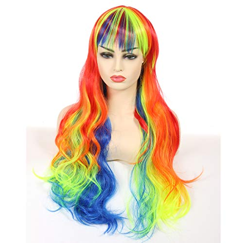 Artemis Synthetic Wig for Women Girls Costume Wigs for Halloween Christmas Cosplay Party Multi Color Heat Resistant Fiber Natural with Hair Cap ()