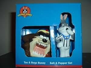 Taz and Bugs Bunny Umpire - Looney Tunes Salt & Pepper Set