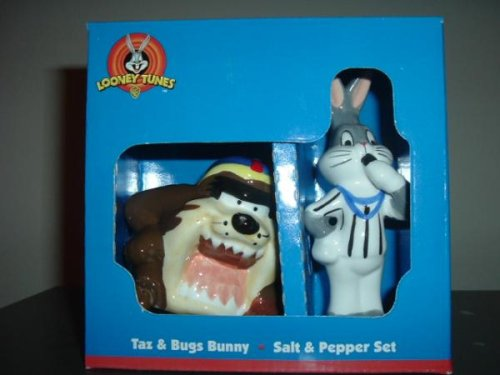 Taz and Bugs Bunny Umpire - Looney Tunes Salt & Pepper Set