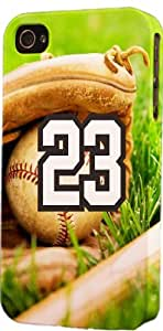 Baseball Sports Fan Player Number 23 Plastic Snap On Flexible Decorative Apple iphone 6 4.7 Case