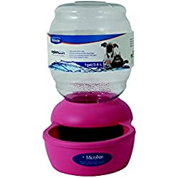 Petmate Replendish Gravity Waterer Pink Dog Bowl, 1 gallon, Small, Pink / Transparent