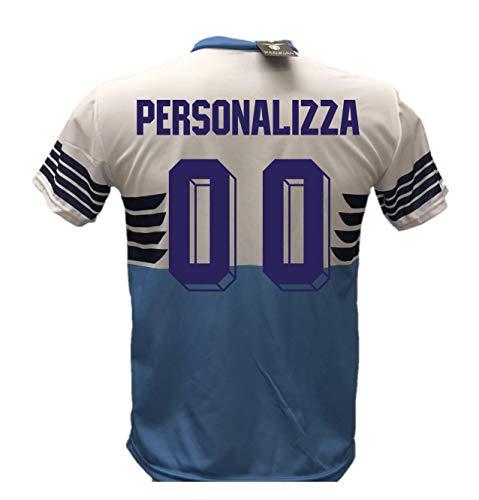 Camiseta de fútbol Lazio personalizable réplica autorizada 2018-2019 para niño (tallas 6, 8, 10, 12), adulto (S, M, L…