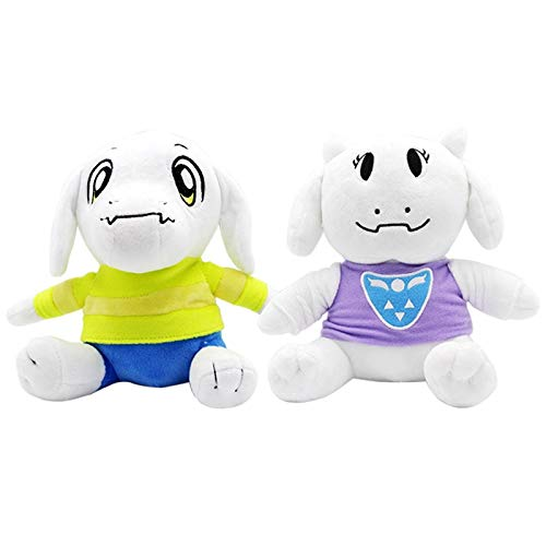 2Pcs/Lot 20Cm Undertale Asriel & Toriel Plush Toys Doll Undertale Plush Soft Stuffed Animals Toys For Kids Children Gifts Must Have Toys Gift Sets The Favourite Superhero Coloring Unbox Switch by YOYOTOY