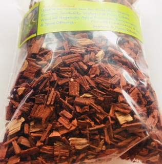 Herbs: Red Sandalwood Chips ~ Oranic ~ Wicca ~ 1 oz ~ Ravenz Roost Herbs with Special Info on Label