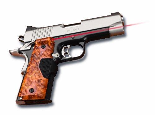 - Crimson Trace LG-401-P1 Pro-Custom Lasergrips Red Laser Sight Grips for 1911 Full-Size Pistols - Burlwood Finish