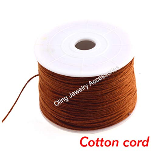 (0.5MM 120M/Lot Soft Cotton Embroidery Thread Colors Optional Beading Wire DIY Jewelry Accessories Hand Dedicated Cord)