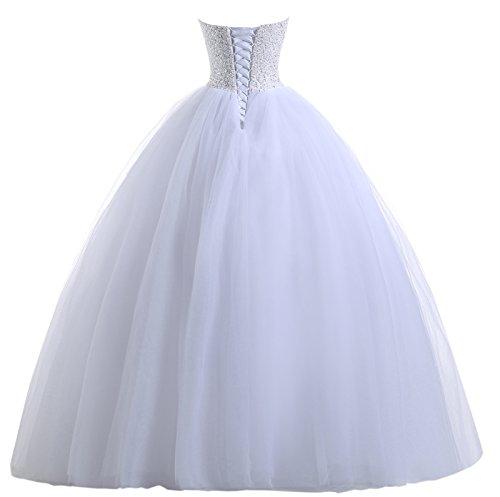 Beautyprom Vestidos de novia vestido de bola nupcial de las mujeres: Amazon.es: Ropa y accesorios