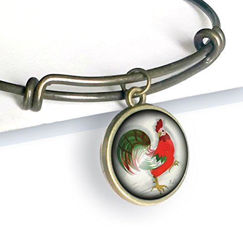 Red Rooster charm bracelet