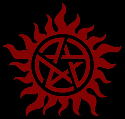 Anti-Posession Symbol - Supernatural die cut Vinyl Decal sticker Approx. 5