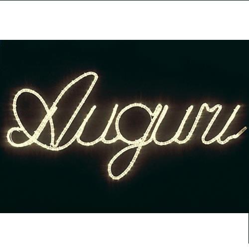 Letrero luminoso con felicitación de Navidad, con tubo de ...