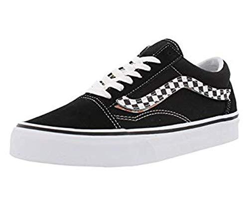 Vans Mens Old Skool SIDESTRIPE V Black White Size 9 (Vans Shoes Old Skool Men)