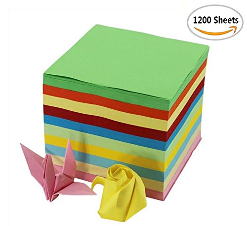 1200 Sheets Fireboomoon Double Sided Origami Paper, 2 3/5 inches square (6.5 by 6.5 cm, or about 2 3/5 inches by 2 3/5 inches ) With fruit fragrance.