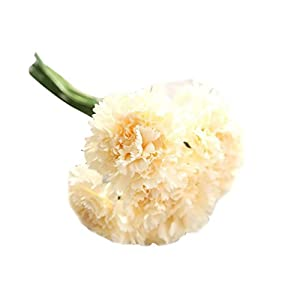 YJYdada Artificial Fake Flowers Carnations Floral Wedding Bouquet Bridal Hydrangea Decor (F) 30