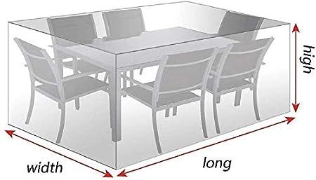 23 Taglie Copertura Tavolo da Giardino Copertina Protettiva Trasparente Impermeabile Telone A Prova di Polvere PE Clip Elastica Color : White, Size : 60x60x60cm