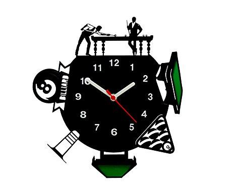 Relógio de Parede Decorativo, Modelo Mundo Bilhar Me Criative RPD Preto Pacote de 1