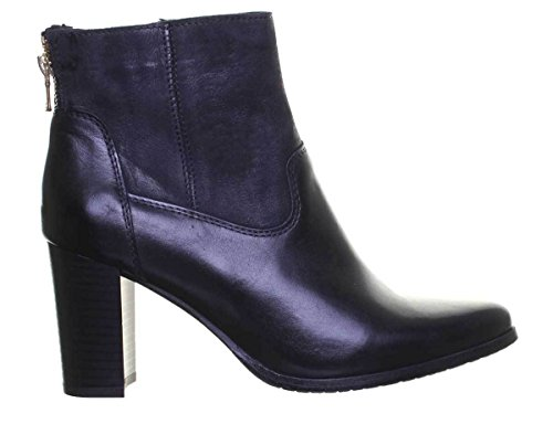 Justin Reece Sock Style Pointed Block Heel Ankle Boot Black BYd37tiHP
