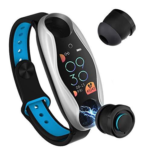 cineman Smart Watch With Wireless Bluetooth Headphones By TWS, 2-in-1 Fitness Tracker Blood Pressure Monitor Watch Built…