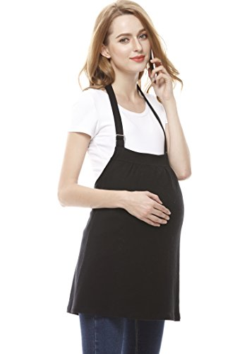 Pregnancy Protection Radiation Shielding Tank/Dress, Anti-Radiation Maternity, Block EMF (Black)