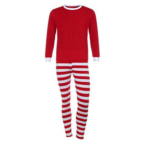 Family Christmas Pajamas Set,Toponly Man and Woman Family Matching Christmas Pajamas Set Striped Blouse +Pants (man red, XL)