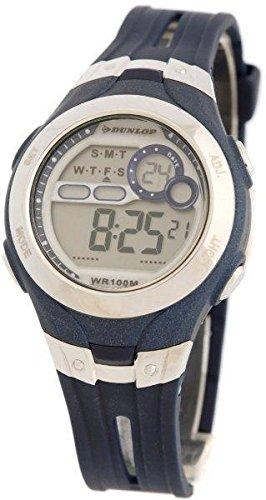 Dunlop DUN-115-L03 Reloj digital para mujer, de cuarzo con correa azul de goma: Amazon.es: Relojes