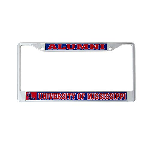 Desert Cactus University of Mississippi Alumni Metal License Plate Frame for Front Back of Car Officially Licensed Ole Miss Rebels - Ole Alumni Miss