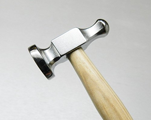 """CHASING HAMMERS JEWELRY MAKING METALWORK 1"""" FLAT FACE 25mm SILVERSMITHS JEWELERS (E 5)"""