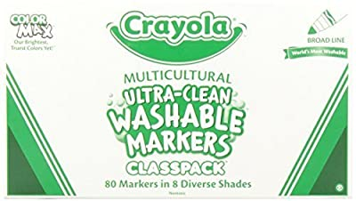Crayola 80ct. Multicultral Washable Markers Classpack | Popular Toys