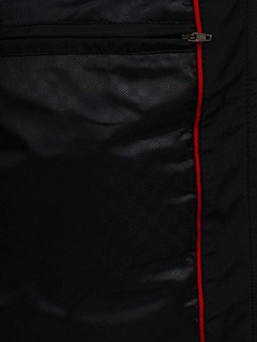 De BOLF De Chaqueta Cuello Hombre Cierre 4D4 Alto Negro Entretiempo Cremallera Motivo ffEpq7cwr