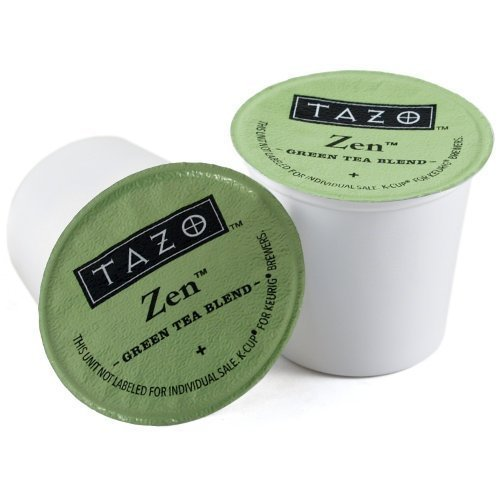 Starbucks Tazo Tea * Zen * Green Tea, 3 Boxes of 16 K-Cups for Keurig Brewers, (48 Total count) Home Grocery Product