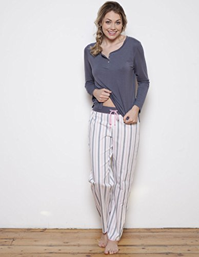 Cyberjammies Faye Grey Striped Pyjama Pant *Sizes 10, 12, 14, 16, 18*