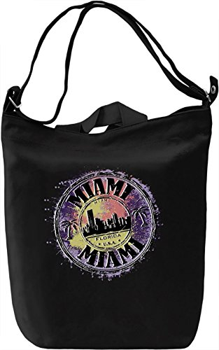 Miami Sign Borsa Giornaliera Canvas Canvas Day Bag| 100% Premium Cotton Canvas| DTG Printing|