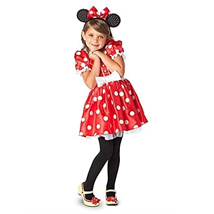 53de5d1a13b5 Amazon.com: Disney Store Classic Red Minnie Mouse Costume for Girls - Size  XS [ 4 ] for Toddler 3 - 4 years old: Toys & Games