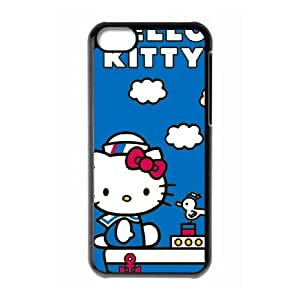 iPhone 5c Cell Phone Case Black Hello Kitty Sailing TR2223433